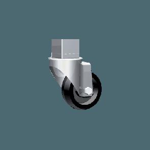 Komplet 4-ih koles z varnostno verigo (2x z zavoro, 2x brez zavore)