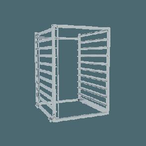 Vstavna košara z GN vodili - 9 x GN 2/1